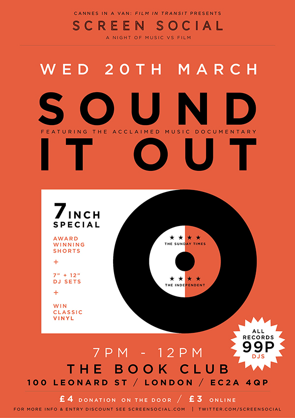 20.03.13 Screen Social special screening of documentary Sound It Out