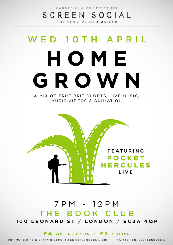 Screen Social: Home Grown (ft. Pocket Hercules) 10.04.13