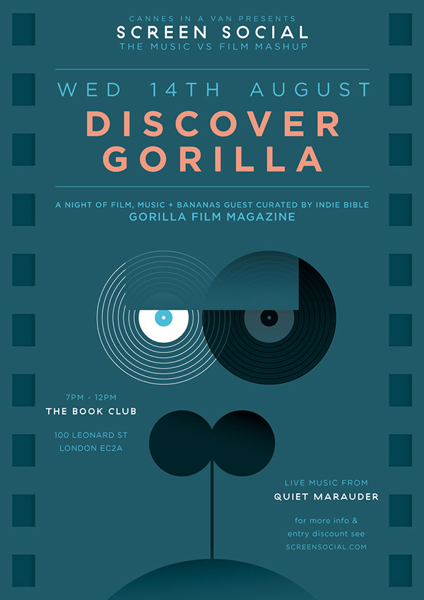 Screen Social: DISCOVER GORILLA / 14.08.13 @ The Book Club