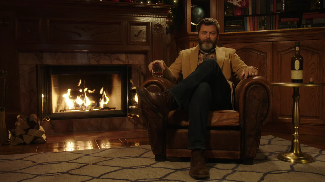 Enjoy Nick Offerman's 45 minutes of silence with his favourite Lagavulin